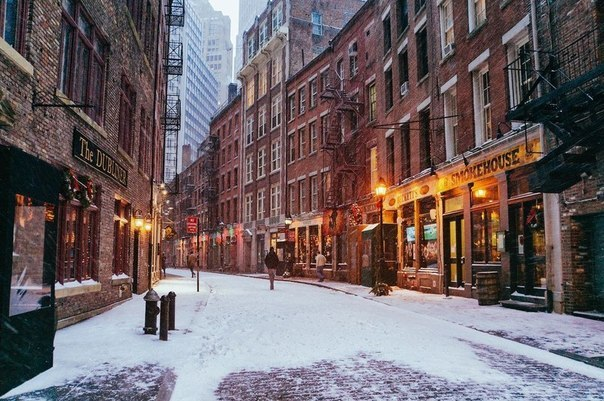 Зима в Нью-Йорке, США